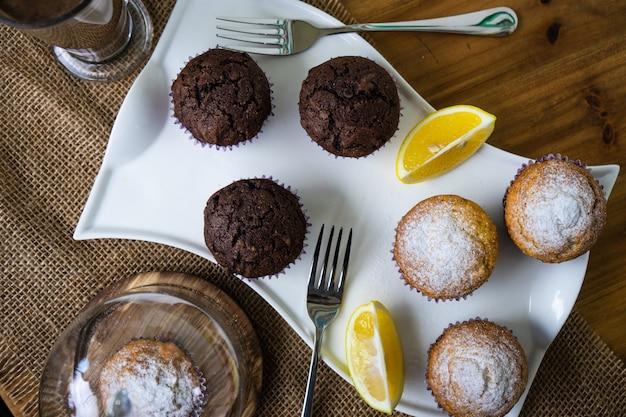 Cupcakes voor het ontbijt Premium Foto