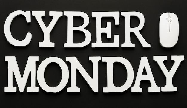 Cyber maandag bericht met muis Gratis Foto