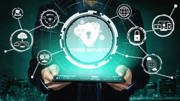 Cyberbeveiliging en digitale gegevensbescherming Premium Foto