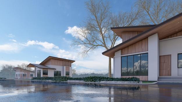 D rendering architectonisch huis Premium Foto