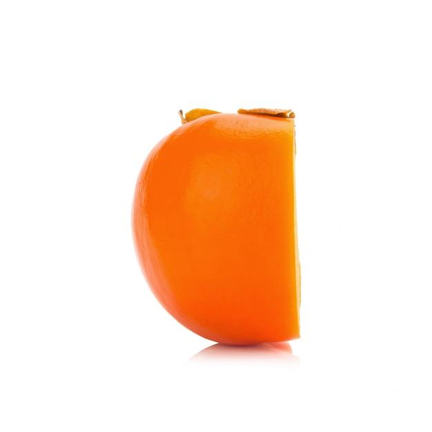 Dadelpruimfruit op witte achtergrond wordt geïsoleerd die Premium Foto