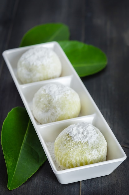 Daifuku mochi japans dessert Premium Foto