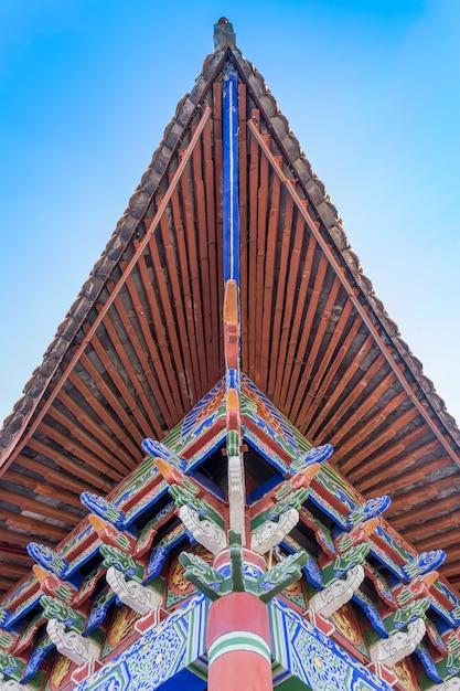 Dak van oude chinese architectuur Premium Foto