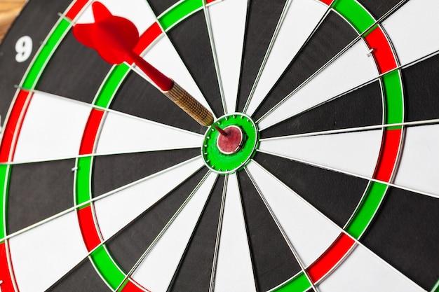 Dartbord close-up Premium Foto