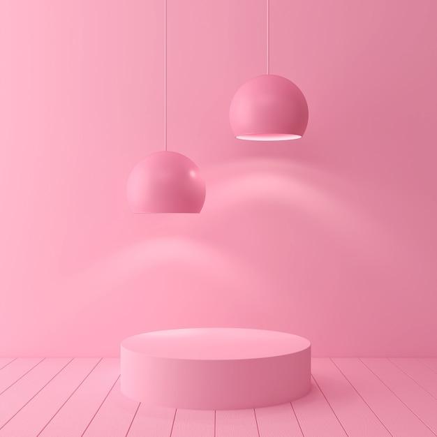 De abstracte geometrische minimale scène van de vormpastelkleur, ontwerp voor 3d schoonheidsmiddel of productvertoningpodium geeft terug. Premium Foto
