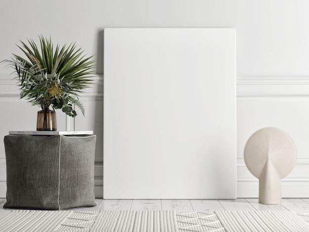De abstracte minimale scène met een geometrische vorm voor productpresentatie, blauwe achtergrond, 3d render, 3d illustratie Premium Foto