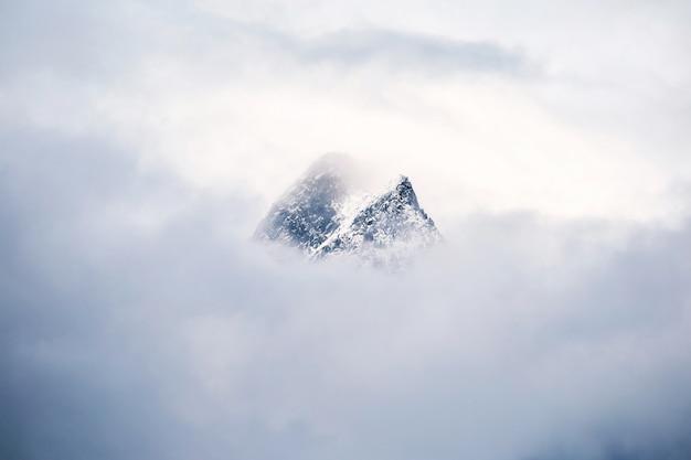 De bergen van zwitserland in sneeuw worden behandeld die Premium Foto