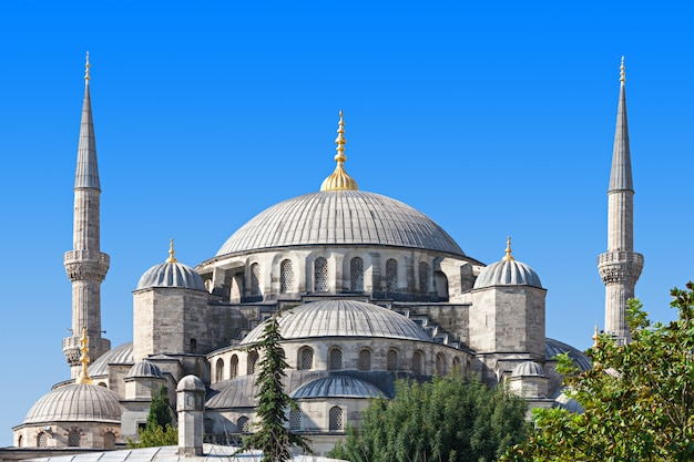 De blauwe moskee Premium Foto