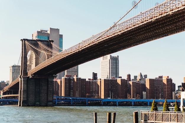 De brug van brooklyn in de stad van new york Gratis Foto