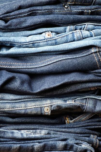 De details van jeansstof Gratis Foto
