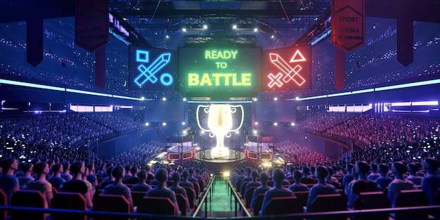 De e-sport arena Premium Foto