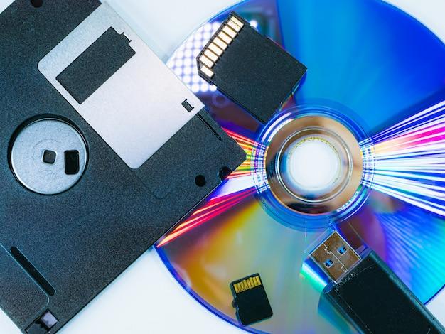 De evolutie van draagbare apparaten voor gegevensopname Premium Foto