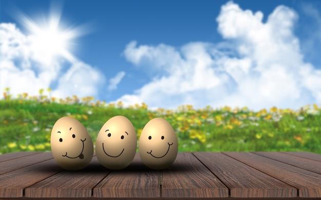 De gelukkige gouden eieren Gratis Foto