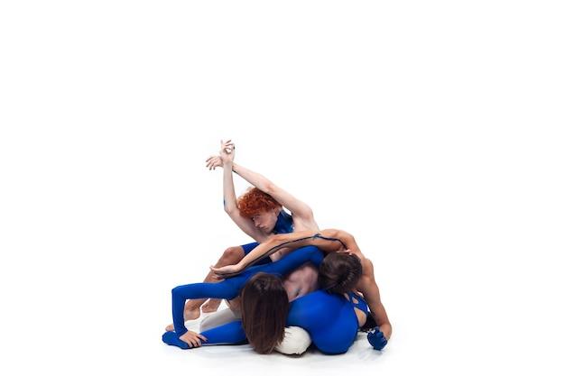 De groep moderne dansers, art contemp dance Gratis Foto