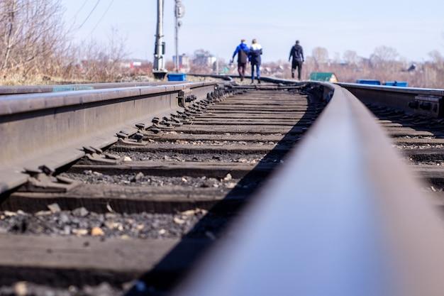 De houten spoorweg Premium Foto