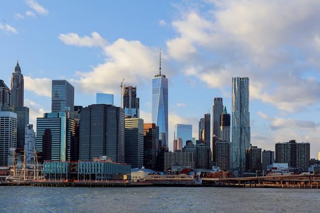 De manhattan skyline van, new york. Premium Foto