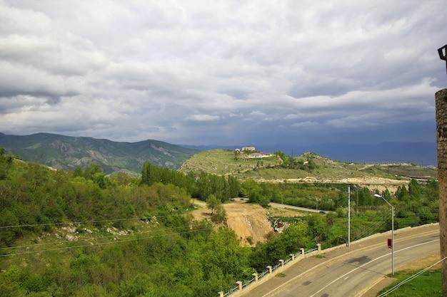 De mening over shushi-stad in nagorno - karabach, de kaukasus Premium Foto