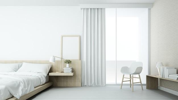 Je Slaapkamer Decoreren : De minimale slaapkamer ruimte in condominium en decoratie witte