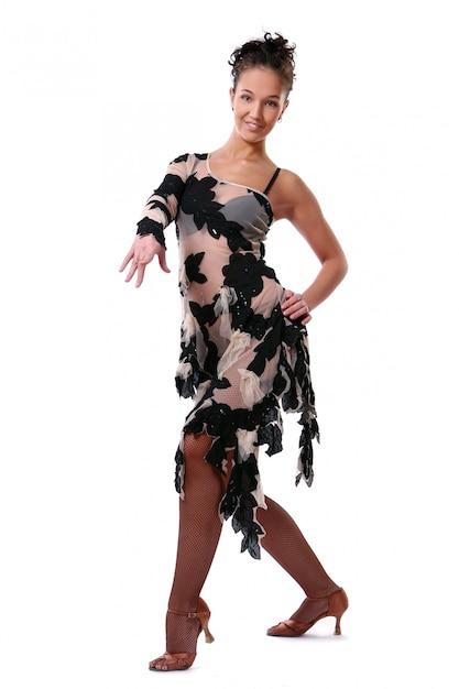 De mooie latijnse dans van vrouwendancin Gratis Foto