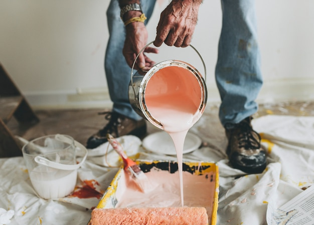 De muren roze schilderen Gratis Foto