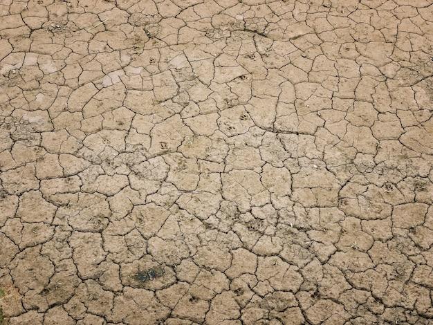 De onvruchtbare achtergrond en de textuur van de grond droge modder Premium Foto