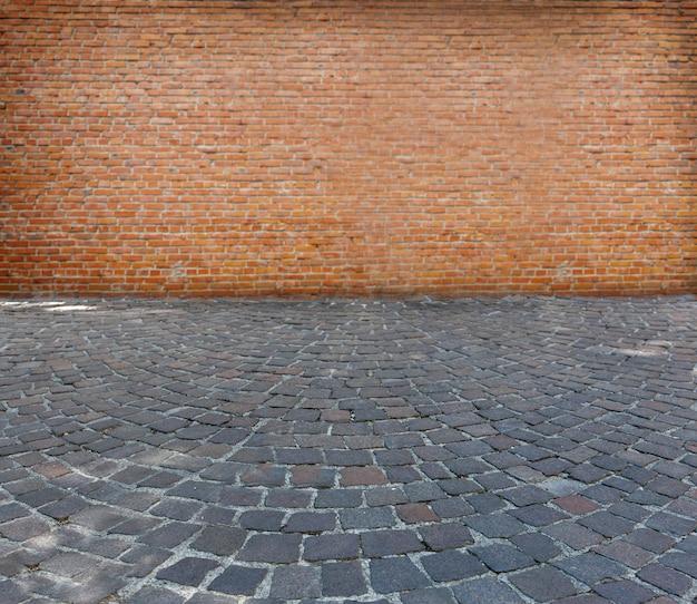 De oude stenen bestrating textuur Premium Foto