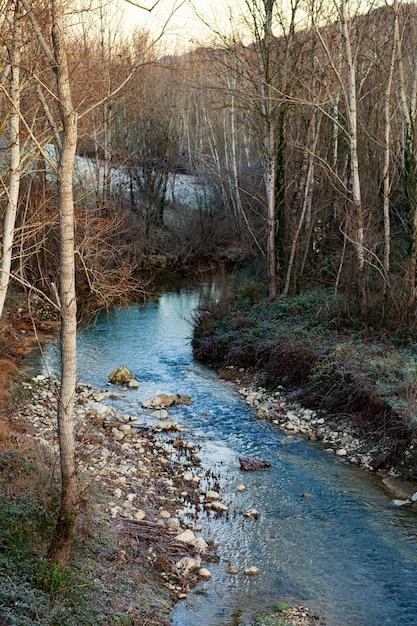 De pesa-rivier loopt door de stad sambuca toscane. Premium Foto
