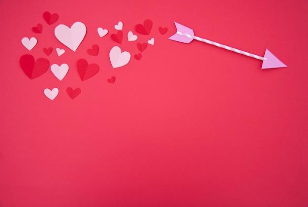 De pijl van de cupido - st. valentine concept Gratis Foto