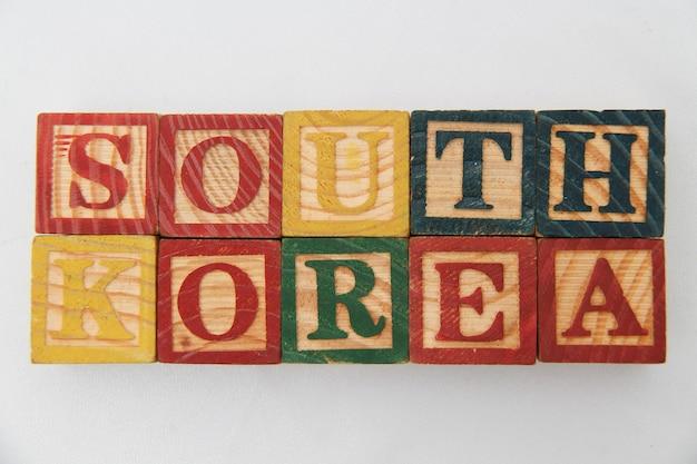 De rangschikking van letters vormt het woord