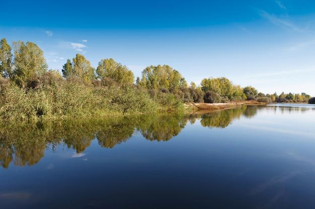 De rivier met een rustige stroming Premium Foto