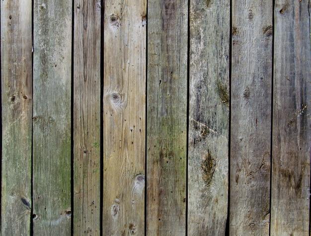 De rustieke houten achtergrond van de omheiningstextuur van groene en blauwe kleuren Premium Foto
