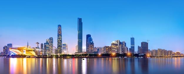 De skyline van guangzhou Premium Foto