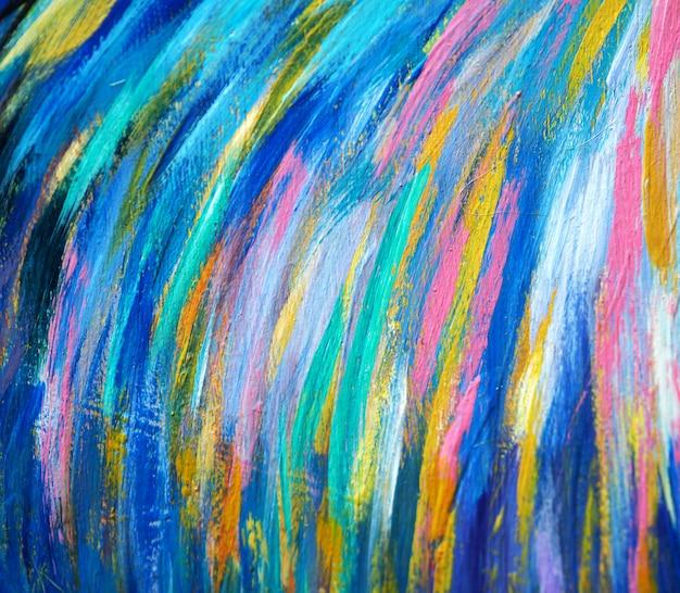 De slagsamenvatting en textuur van de olieverfschilderij kleurrijke borstel Premium Foto
