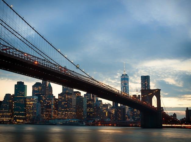 De stadshorizon van new york Premium Foto