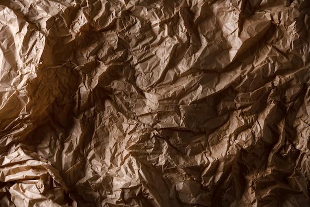 De texturen van pakpapier, recyclen verfrommeld document voor achtergrond Premium Foto