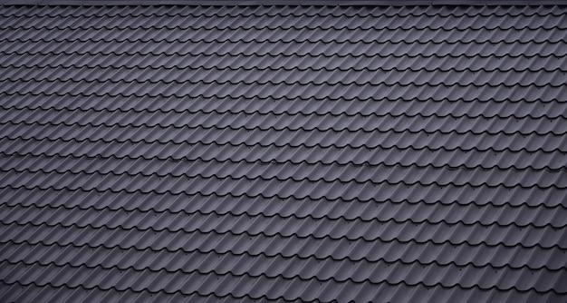 De textuur van het dak van geschilderd metaal Premium Foto