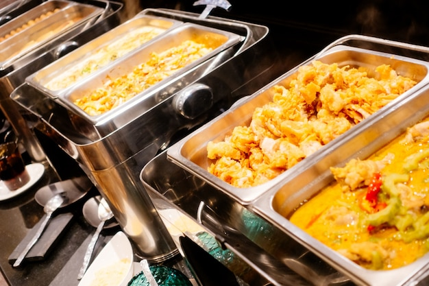 De viering van gastronomische tafel buffet Gratis Foto