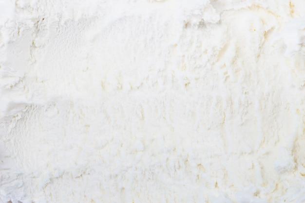 De witte bevroren achtergrond van de roomijstextuur Gratis Foto