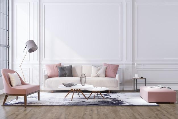Decoratieve achtergrond voor thuis, kantoor en hotel. modern interieur Premium Foto