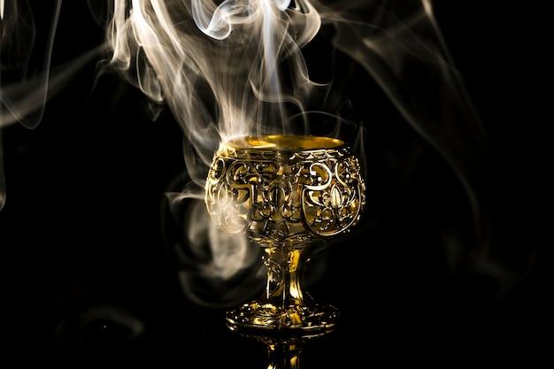 Decoratieve lampen verlicht voor diwali-festival Premium Foto