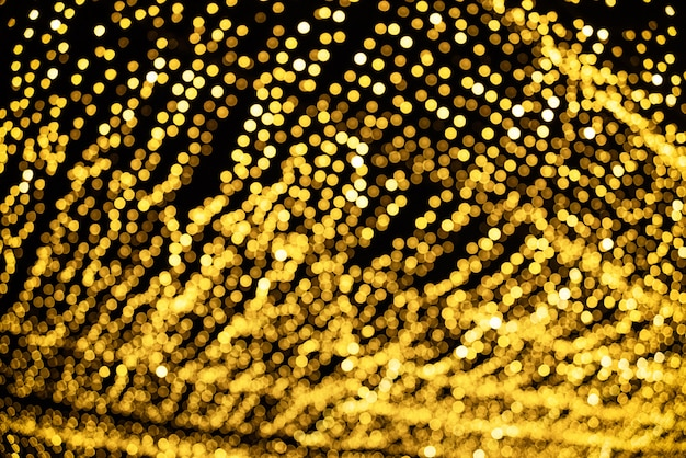 Defocused abstract bokeh patroon van verlichtingsdecor voor. Premium Foto