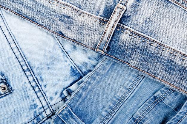 Denim blauw jean textuur Premium Foto