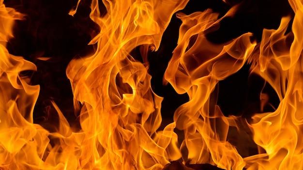 Detail van de achtergrond en het patroon van de brandvlam Premium Foto