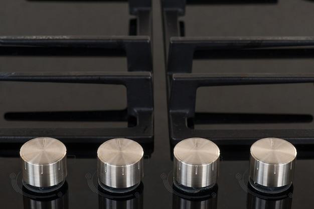 Detail van gaskookplaat Premium Foto