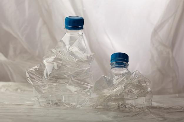 Detail van plastic flessen voor recycling. Gratis Foto