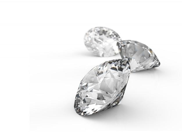 Diamanten stukken Premium Foto