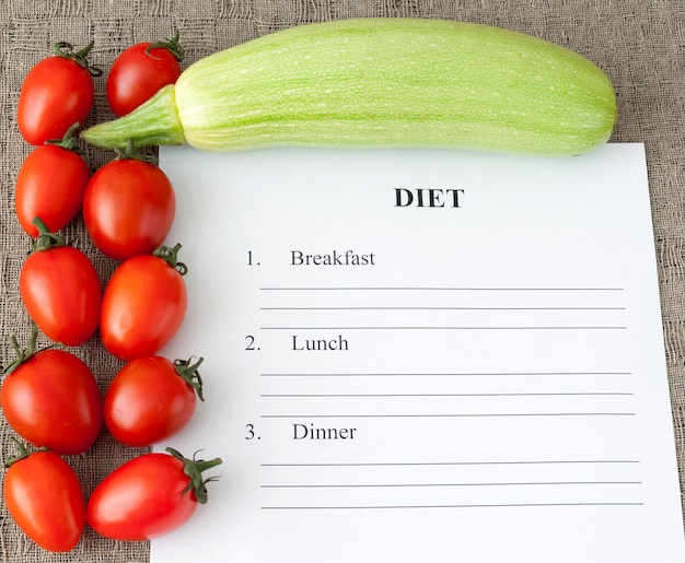 Dieetplannen, conceptuele gezondheid Premium Foto