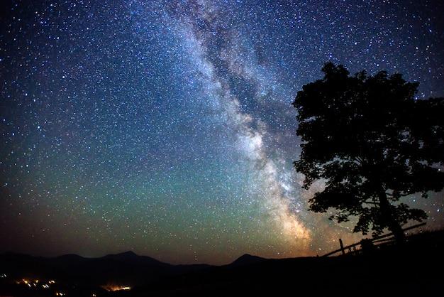 Diepe lucht astrofoto Premium Foto