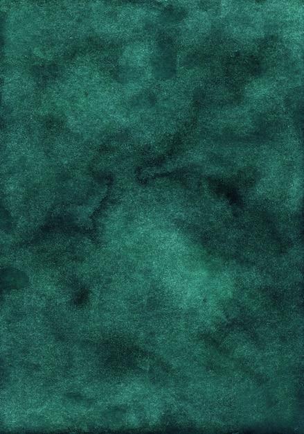 Diepgroene aquarel oppervlakte achtergrond Premium Foto