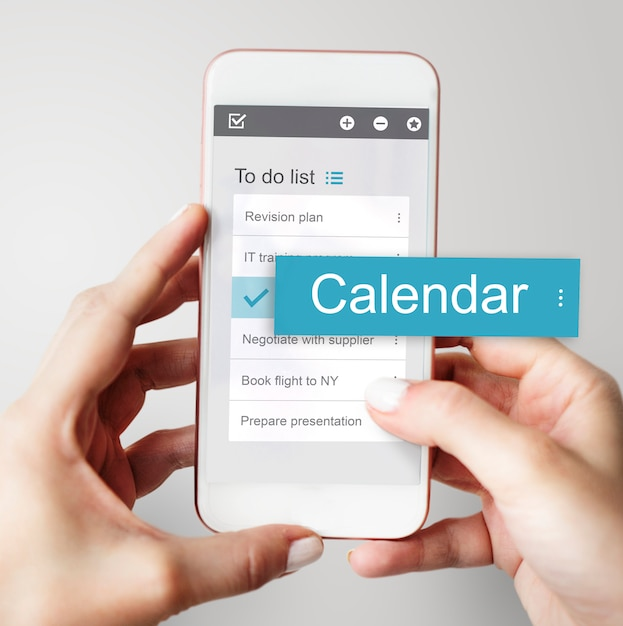 Digital business to doen app-interface Gratis Foto